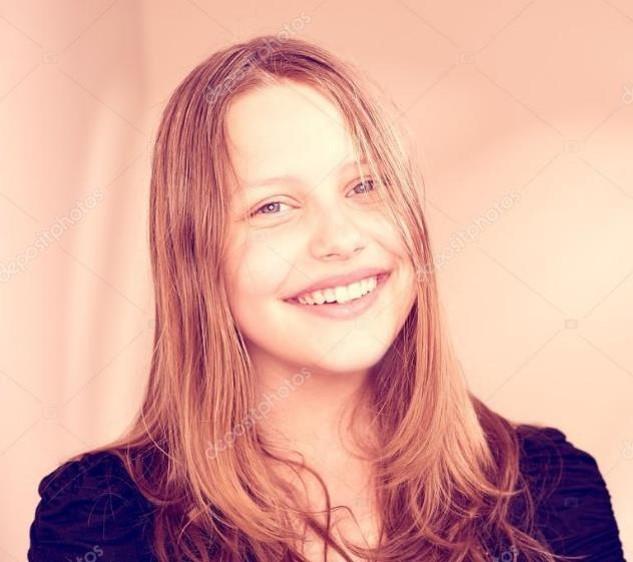 Mujer adolescente tierna